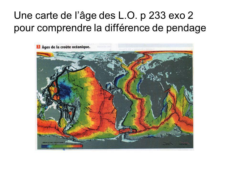 Une carte de l'âge des L. O