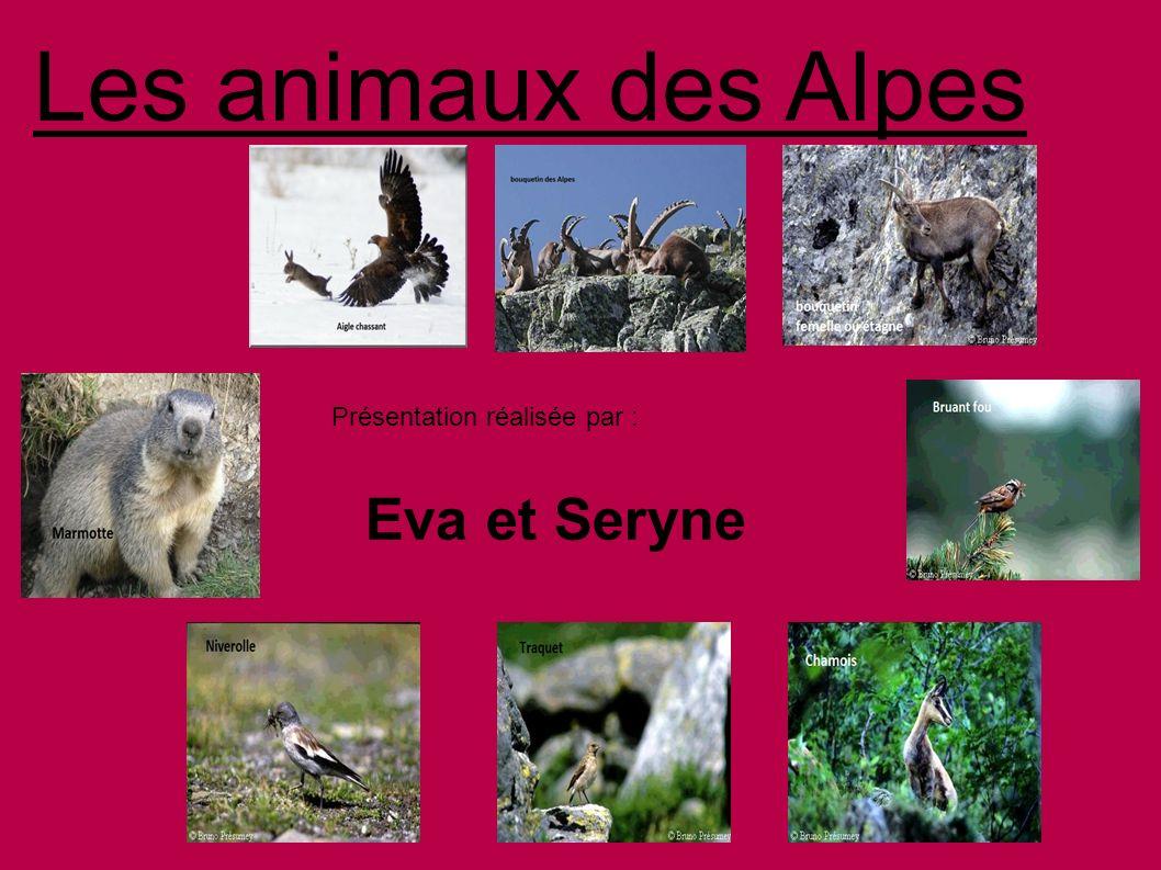 Les animaux des Alpes Présentation réalisée par : Eva et Seryne