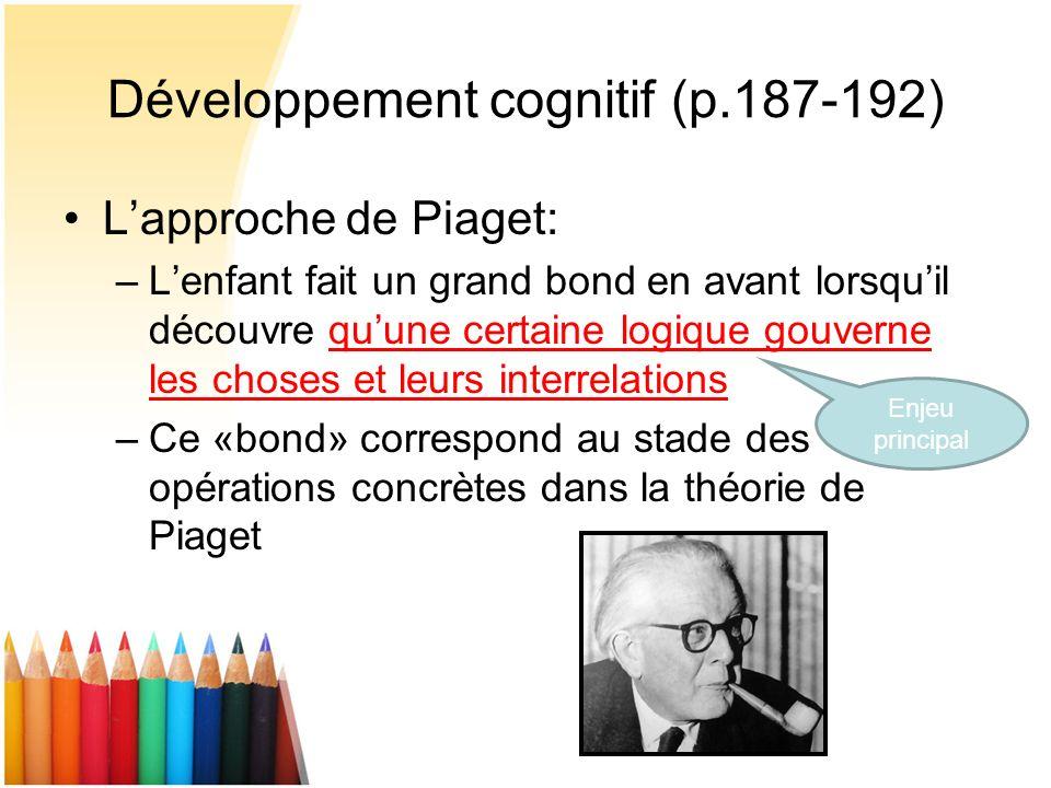 Développement cognitif (p.187-192)