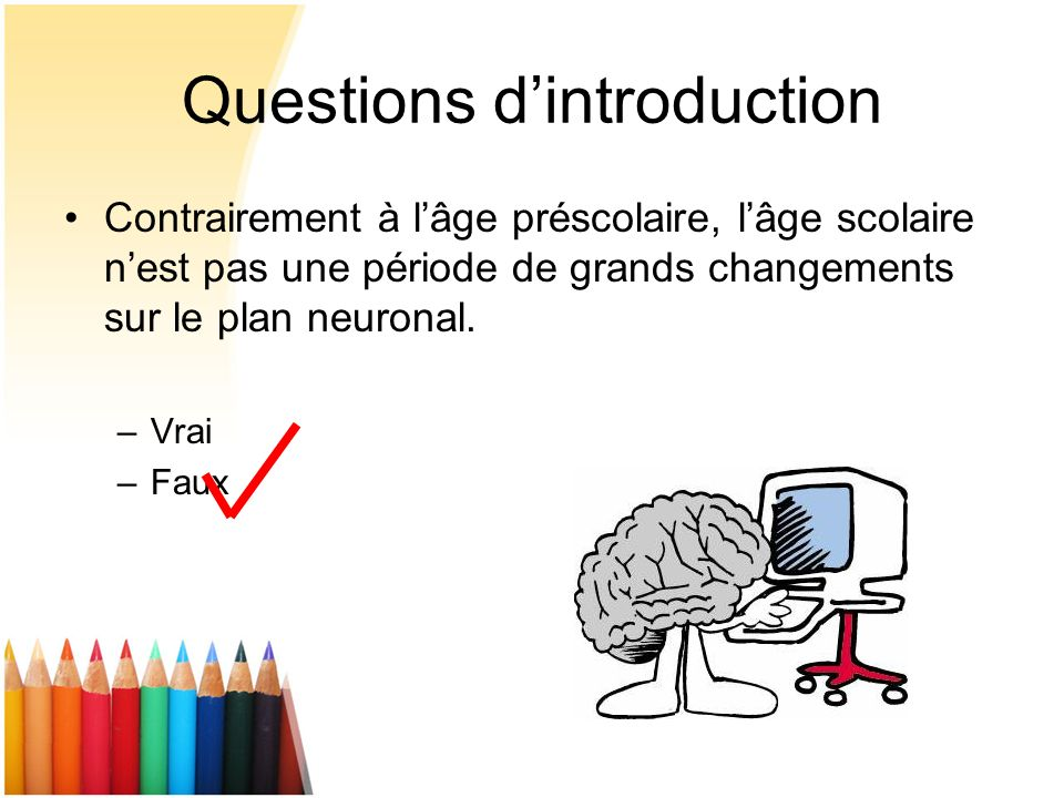 Questions d'introduction
