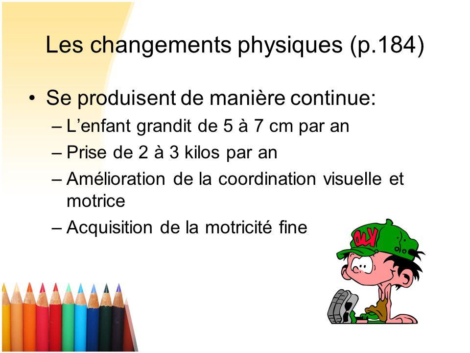 Les changements physiques (p.184)