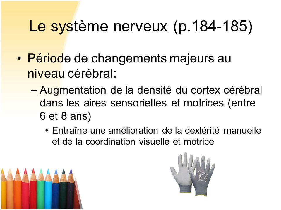 Le système nerveux (p.184-185)