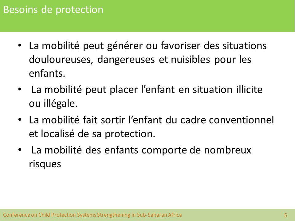 La mobilité peut placer l'enfant en situation illicite ou illégale.