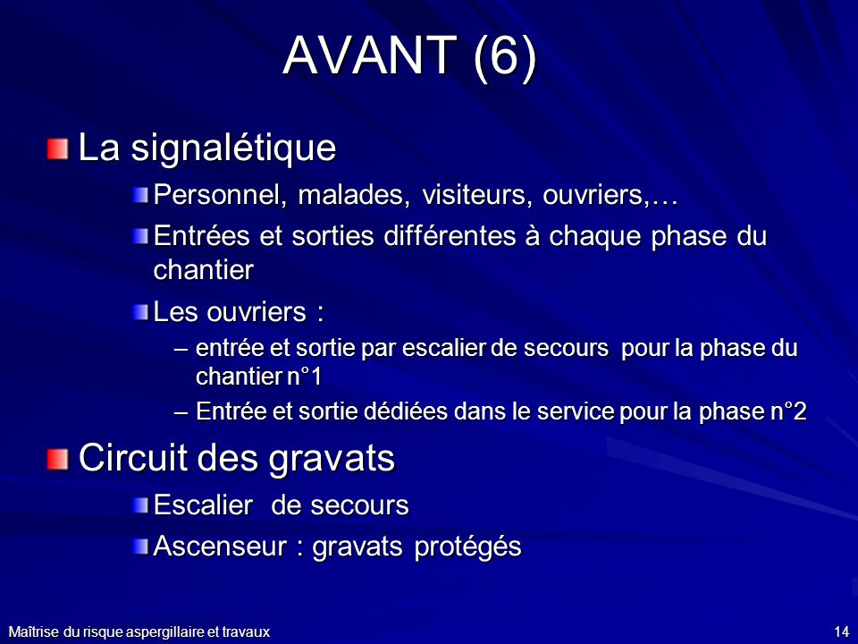 AVANT (6) La signalétique Circuit des gravats
