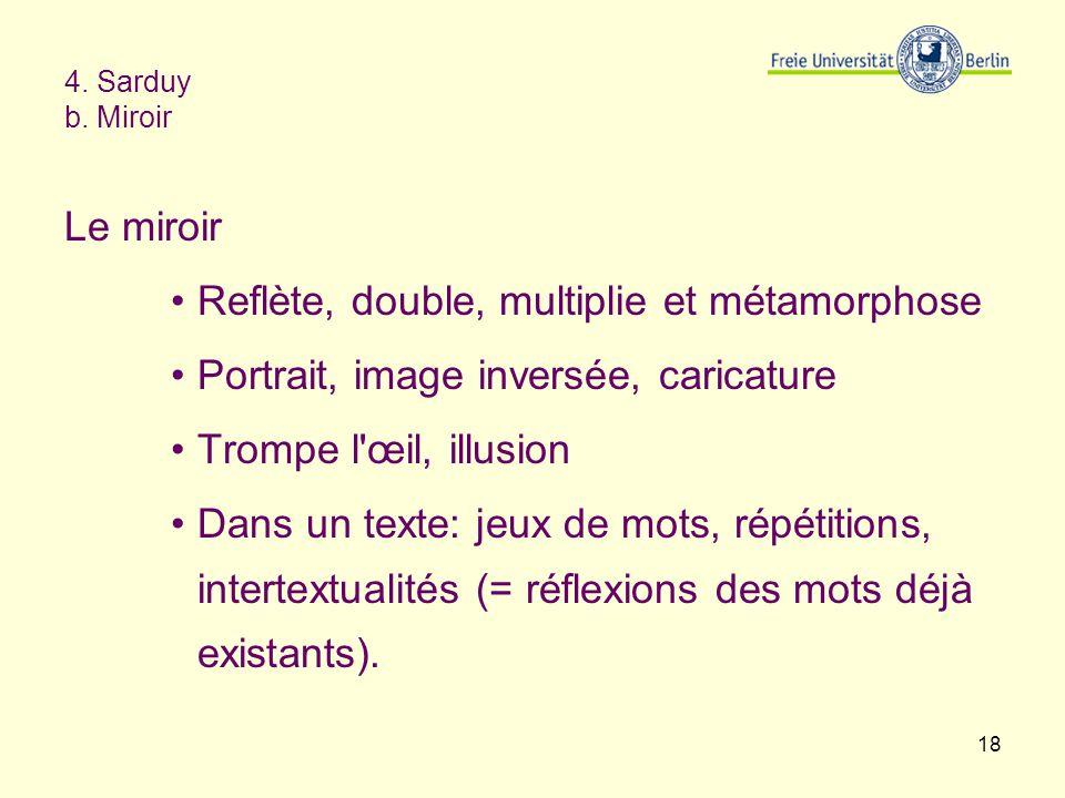 Reflète, double, multiplie et métamorphose