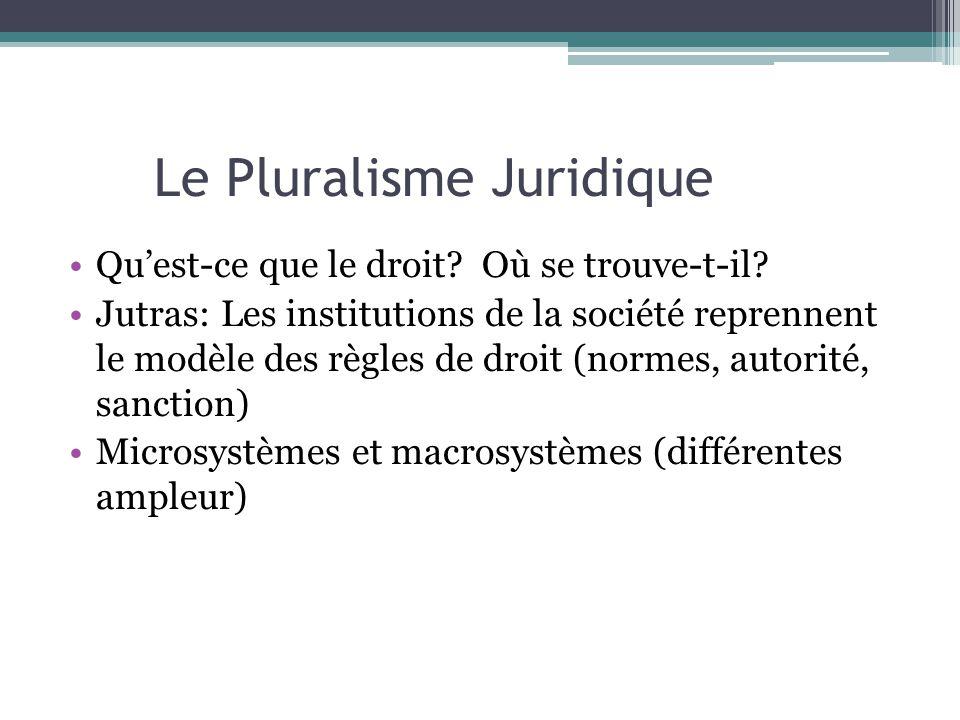 Le Pluralisme Juridique