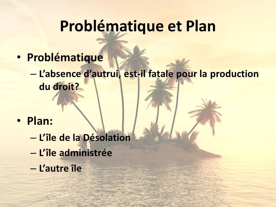 Problématique et Plan Problématique Plan: