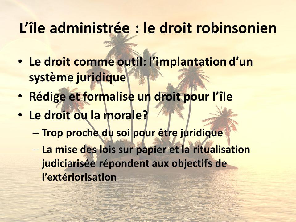 L'île administrée : le droit robinsonien