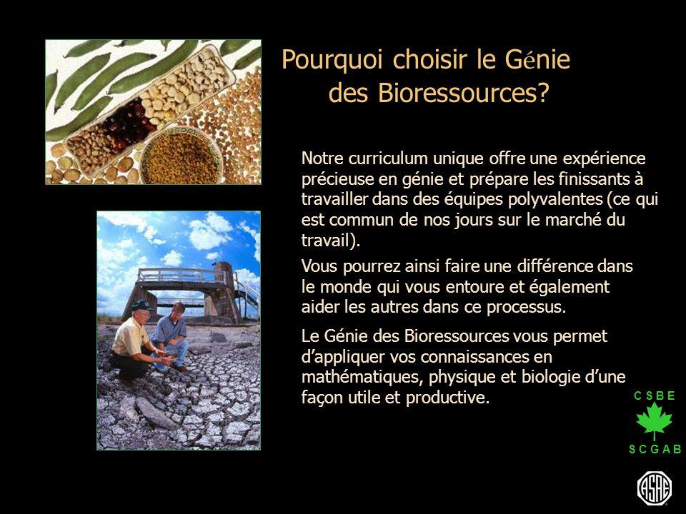 Pourquoi choisir le Génie des Bioressources