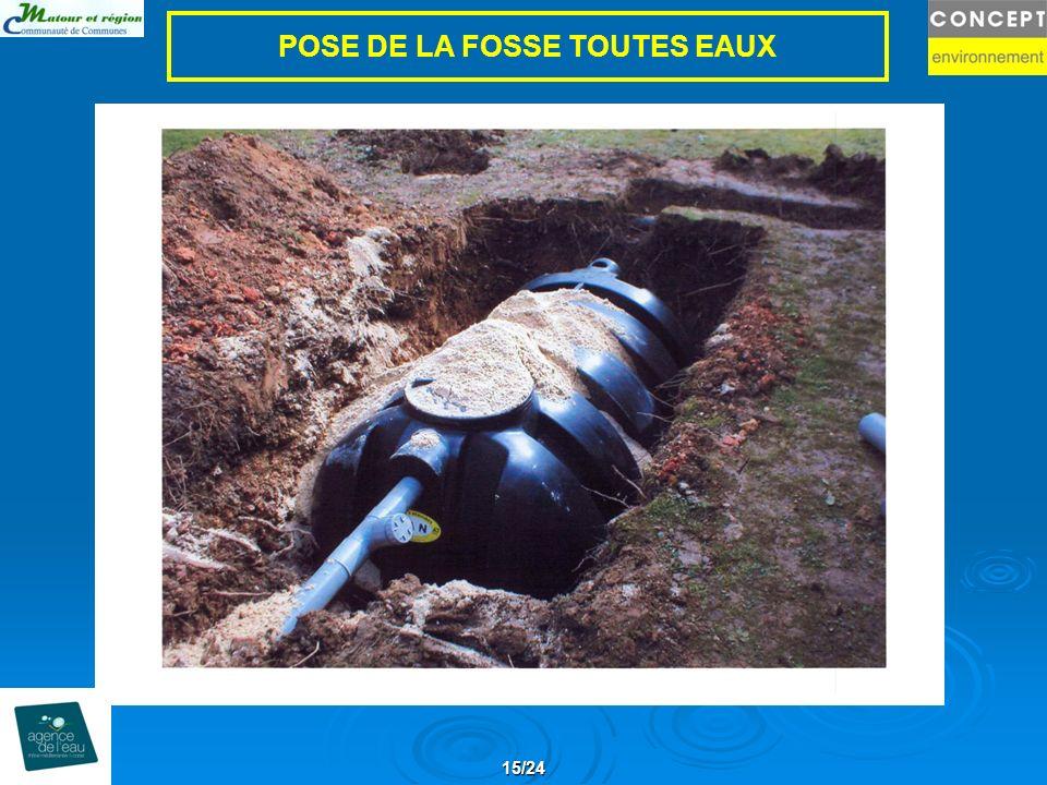 POSE DE LA FOSSE TOUTES EAUX