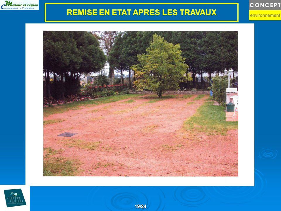REMISE EN ETAT APRES LES TRAVAUX