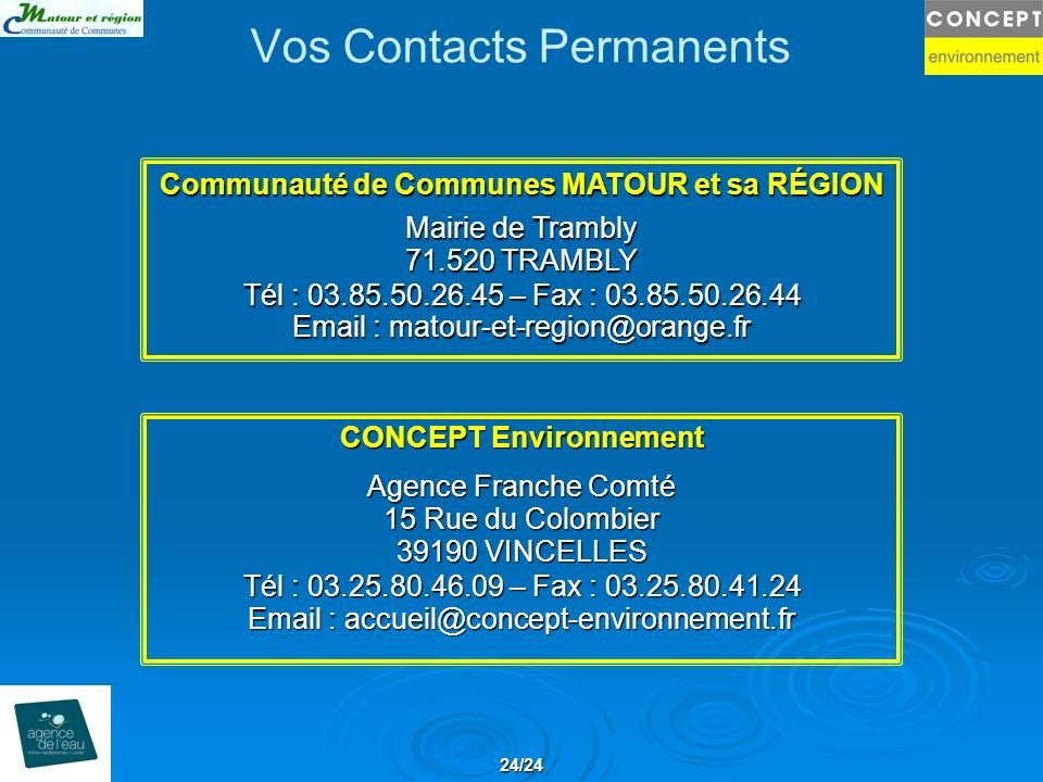 Vos Contacts Permanents