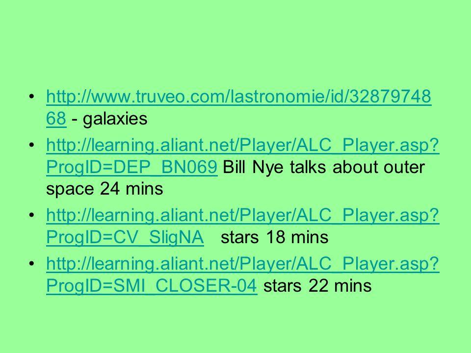 http://www.truveo.com/lastronomie/id/3287974868 - galaxies