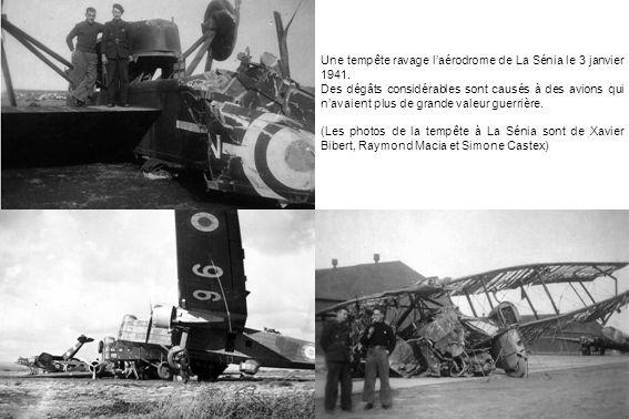 Une tempête ravage l'aérodrome de La Sénia le 3 janvier 1941.
