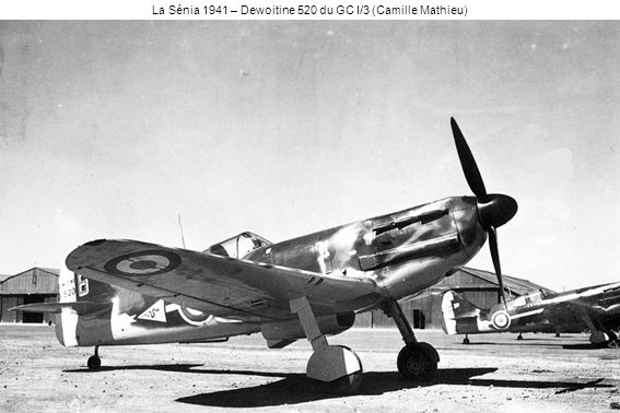 La Sénia 1941 – Dewoitine 520 du GC I/3 (Camille Mathieu)