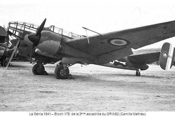 La Sénia 1941 – Bloch 175 de la 3ème escadrille du GR II/52 (Camille Mathieu)