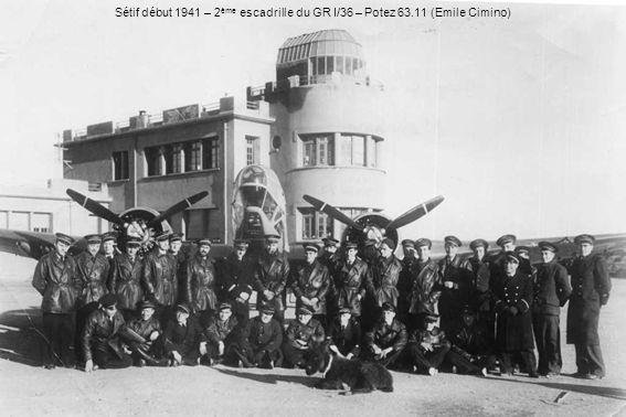 Sétif début 1941 – 2ème escadrille du GR I/36 – Potez 63