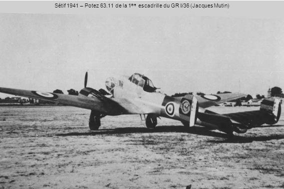 Sétif 1941 – Potez 63.11 de la 1ère escadrille du GR I/36 (Jacques Mutin)