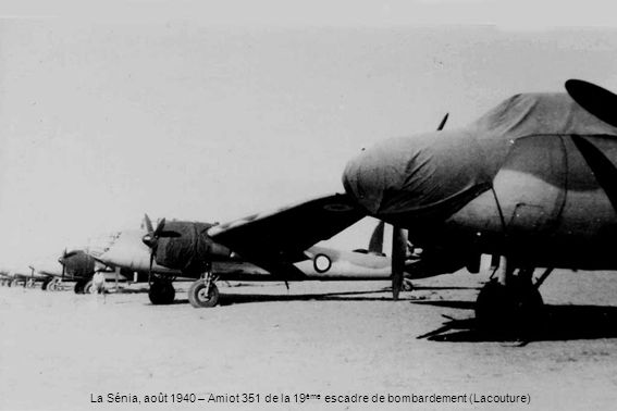 La Sénia, août 1940 – Amiot 351 de la 19ème escadre de bombardement (Lacouture)