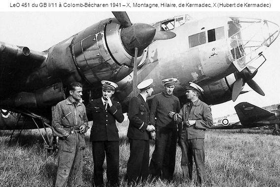 LeO 451 du GB I/11 à Colomb-Béchar en 1941 – X, Montagne, Hilaire, de Kermadec, X (Hubert de Kermadec)