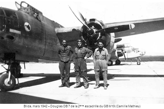 Blida, mars 1942 – Douglas DB 7 de la 2ème escadrille du GB II/19 (Camille Mathieu)