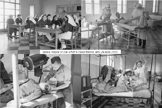 General Hospital Nr 2 de la RAF à Maison-Blanche dans une école (IWM)