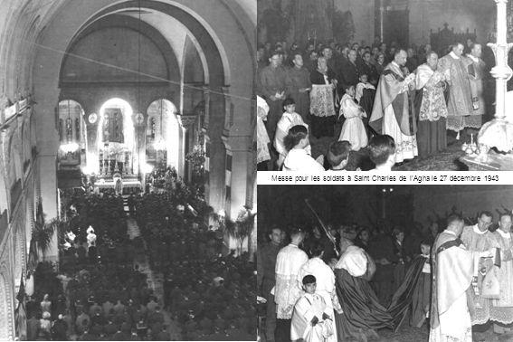 Messe pour les soldats à Saint Charles de l'Agha le 27 décembre 1943