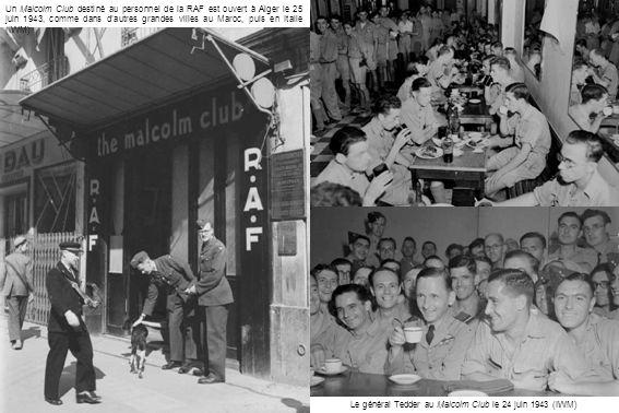 Le général Tedder au Malcolm Club le 24 juin 1943 (IWM)