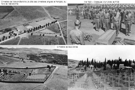 Mai 1943 – Obsèques d'un pilote de P-38