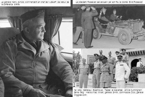 Le général Henry Arnold, commandant en chef de l'USAAF, de retour de la conférence d'Anfa