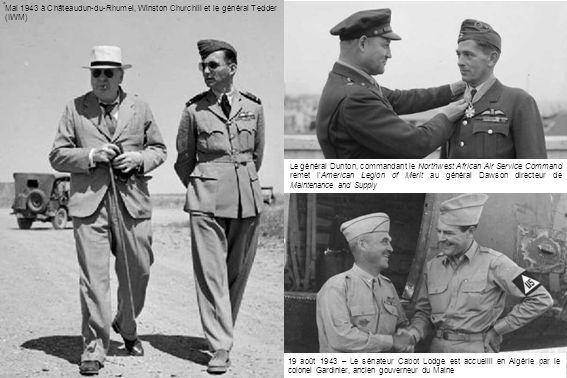 Mai 1943 à Châteaudun-du-Rhumel, Winston Churchill et le général Tedder (IWM)