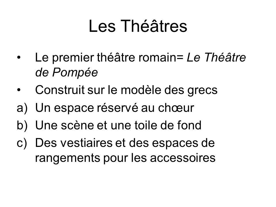 Les Théâtres Le premier théâtre romain= Le Théâtre de Pompée