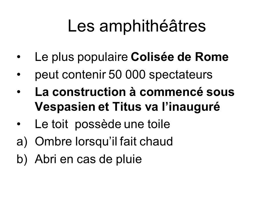 Les amphithéâtres Le plus populaire Colisée de Rome