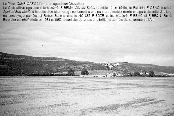 Le Piper Cub F-OAFC à l'atterrissage (Jean Chevalier)