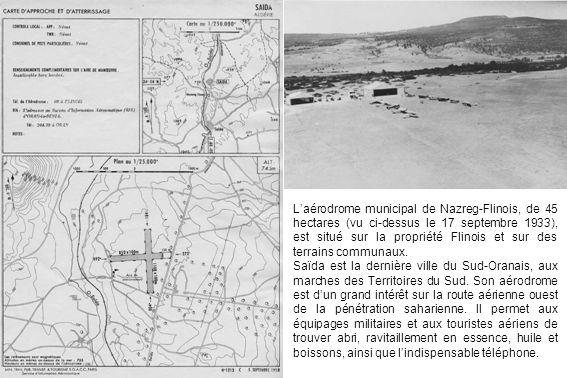 L'aérodrome municipal de Nazreg-Flinois, de 45 hectares (vu ci-dessus le 17 septembre 1933), est situé sur la propriété Flinois et sur des terrains communaux.