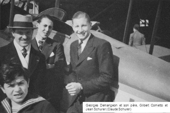 Georges Demangeon et son père, Gilbert Cornetto et Jean Schurer (Claude Schurer)