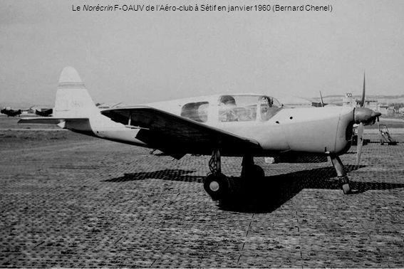 Le Norécrin F-OAUV de l'Aéro-club à Sétif en janvier 1960 (Bernard Chenel)