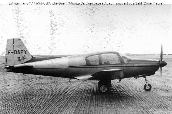 L'Aviamilano F.14 Nibbio d'André Guelfi (Mimi La Sardine) basé à Agadir, souvent vu à Sétif (Didier Faure)