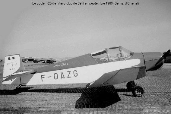 Le Jodel 120 de l'Aéro-club de Sétif en septembre 1960 (Bernard Chenel)