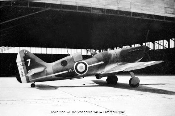 Dewoitine 520 de l'escadrille 1AC – Tafaraoui 1941