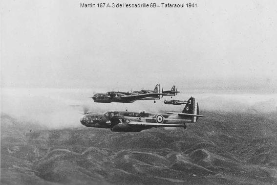 Martin 167 A-3 de l'escadrille 6B – Tafaraoui 1941