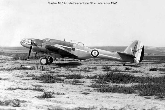 Martin 167 A-3 de l'escadrille 7B – Tafaraoui 1941
