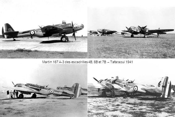 Martin 167 A-3 des escadrilles 4B, 6B et 7B – Tafaraoui 1941