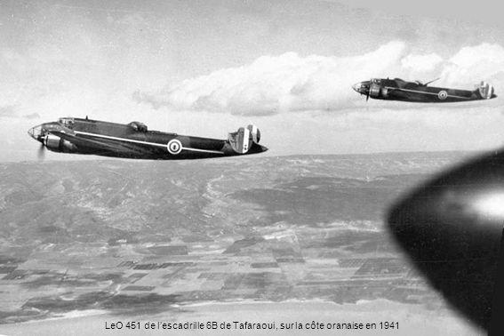 LeO 451 de l'escadrille 6B de Tafaraoui, sur la côte oranaise en 1941