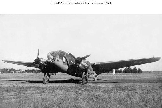 LeO 451 de l'escadrille 6B – Tafaraoui 1941