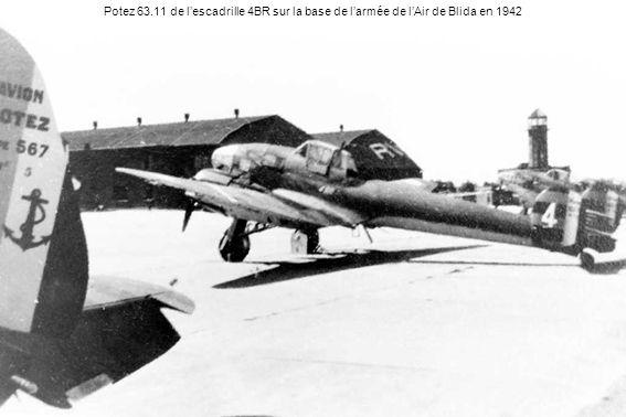 Potez 63.11 de l'escadrille 4BR sur la base de l'armée de l'Air de Blida en 1942