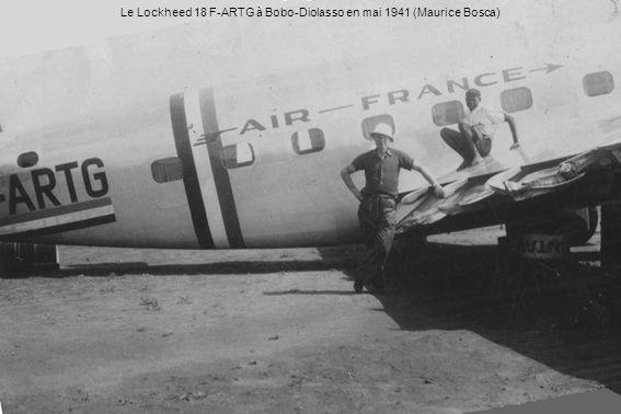 Le Lockheed 18 F-ARTG à Bobo-Diolasso en mai 1941 (Maurice Bosca)