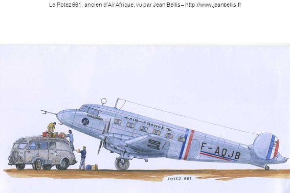 Le Potez 661, ancien d'Air Afrique, vu par Jean Bellis – http://www