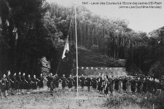 1941 - Lever des Couleurs à l Ecole des cadres d El-Riath