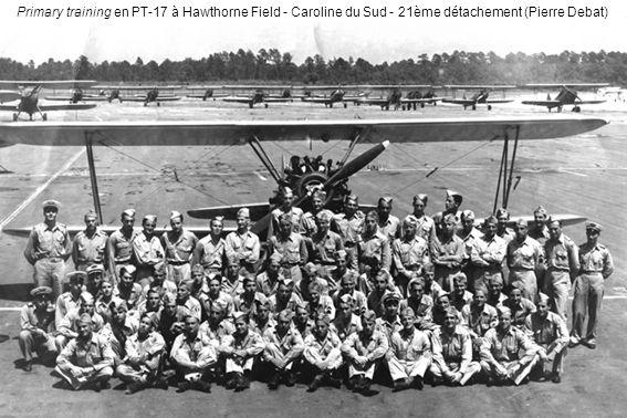 Primary training en PT-17 à Hawthorne Field - Caroline du Sud - 21ème détachement (Pierre Debat)